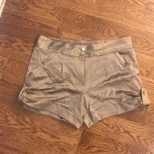 Diane Von Furstenberg Silk Shorts 12 Tan